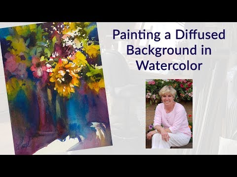 Painting a Diffused Background in Watercolor