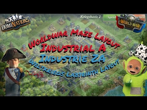 #192. DomiNations 5. Worldwar Base Layout Industrial Age (Medal protection / Maze Layout)