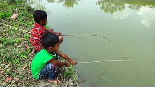 Best Fishing Video | Kids Fishing By Daily Village Life (Part-36)
