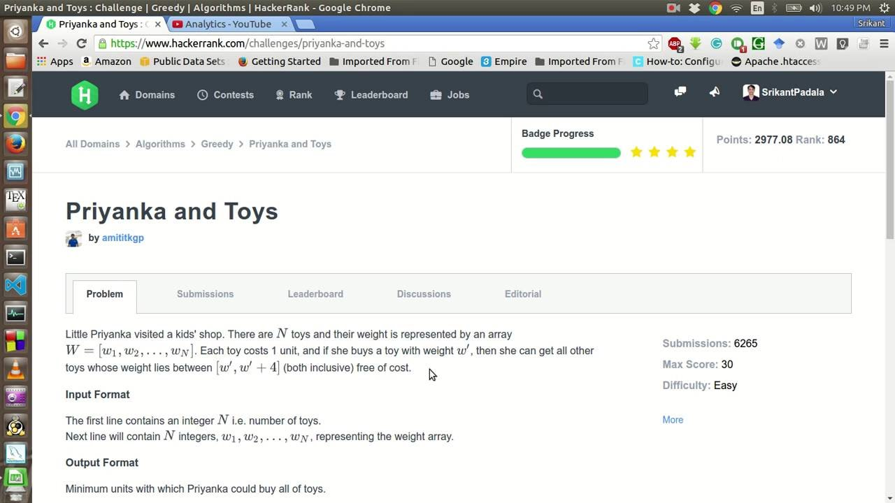 HackerRank | Priyanka and Toys Solution