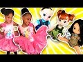 Disney Movie In Real Life Princess Tea Party Frozen Elsa Anna Dolls Toys Dress Up Costume video