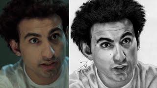 Ali Rabe Draw by Mary Makram - علي ربيع نجم مسرح مصر بريشة ماري مكرم