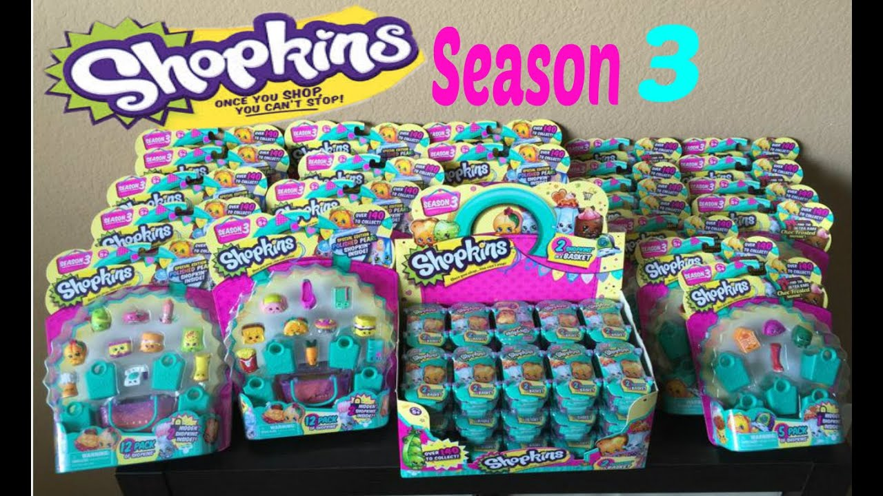Shopkins Season 3: Largest Unboxing On Youtube! Limited Edition???   YouTube