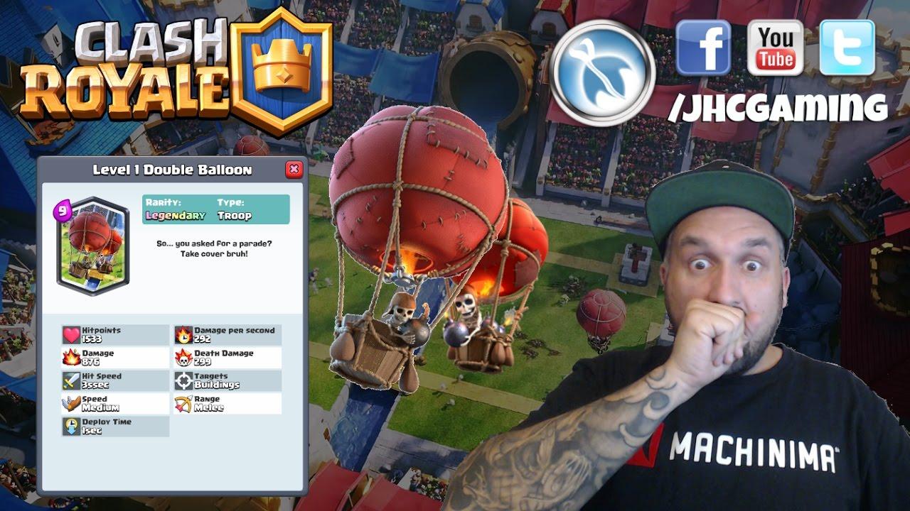 Clash Royale LEAK: NEW LEGENDARY (Double Balloon) - YouTube