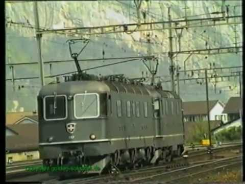 SBB Ae 6/6, Erstfeld 1990, TOP-Video Teil 1/3