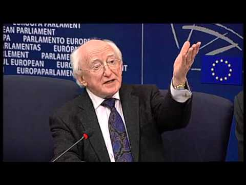 Press Conference with President of Ireland and President of the European Parliament