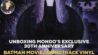 UNBOXING MONDO'S EXCLUSIVE 30TH ANNIVERSARY BATMAN MOVIE SOUNDTRACK VINYL