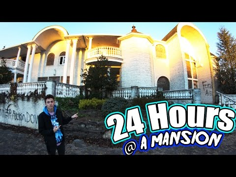 24 HOUR OVERNIGHT CHALLENGE AT AN ABANDONED MANSION! (CREEPY!)