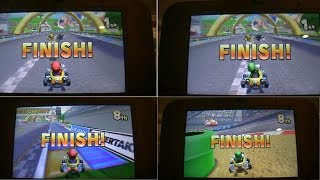 Mario Kart 7 All Winning and Losing Animations