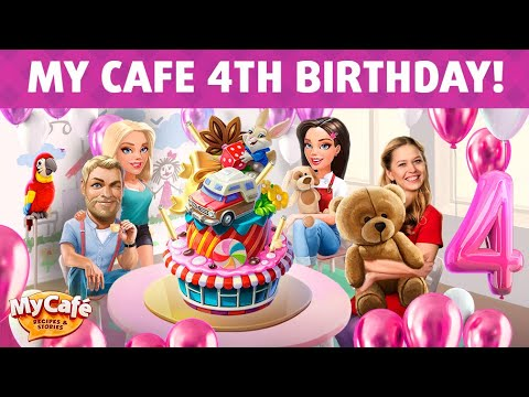 My Cafe: 4th Birthday Update Announcement!