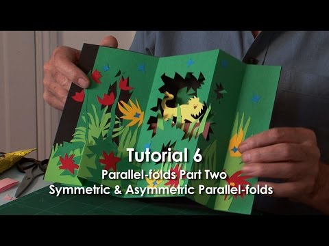 Pop-Up Tutorial 6 - Parallel-folds Part 2 Symmetric & Asymmetric