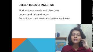 Golden Rules of Investing Lets Invest series video 2 by Tanuja Yadav CFA