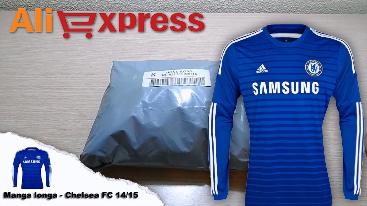 Unboxing Aliexpress - Manga longa - Chelsea FC 14 15 - YouTube cd4687aa78478