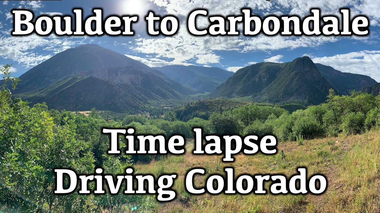 Driving Colorado Time Lapse, Boulder to Carbondale