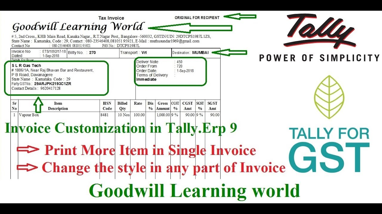 Amazing Tally TDL for Invoice Customization - You Can Change any part of  Invoice in Tally