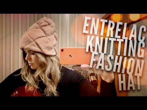 Вяжем ШАПКУ ЭНТЕРЛАК СПИЦАМИ 😍 / ENTRELAC Knitted HAT