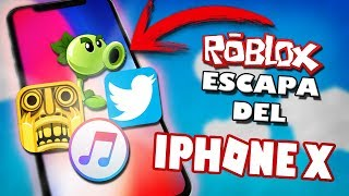 ROBLOX - ESCAPE FROM IPHONE X! (Parkour) - Alvarito155