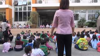 Starting the Day at a Thai Primary School , Rangsit , Bangkok Thailand - How