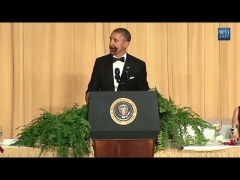 Obama Kills at Correspondents' Dinner
