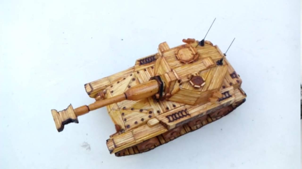 Как сделать спичечный танк фото 546