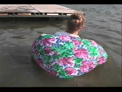 Skirt floating in water