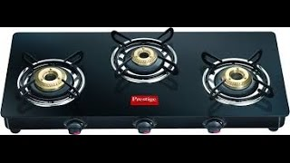 Unboxing of prestige GTM03L 3 burner glass top gas stove