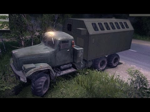 Spin Tires   Kraz Off Road in the Forest