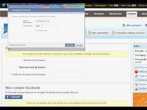 Associe Tes Comptes Skyrock Et Facebook