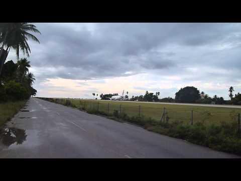 Nauru   Our Airline Lnding at Nauru