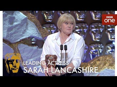 Sarah Lancashire wins the Best Leading Actress BAFTA - The British Academy Television Awards 2017