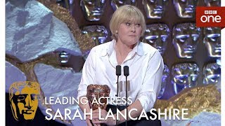 Sarah Lancashire wins the Best Leading Actress BAFTA - The British Academy Television Awards 2017