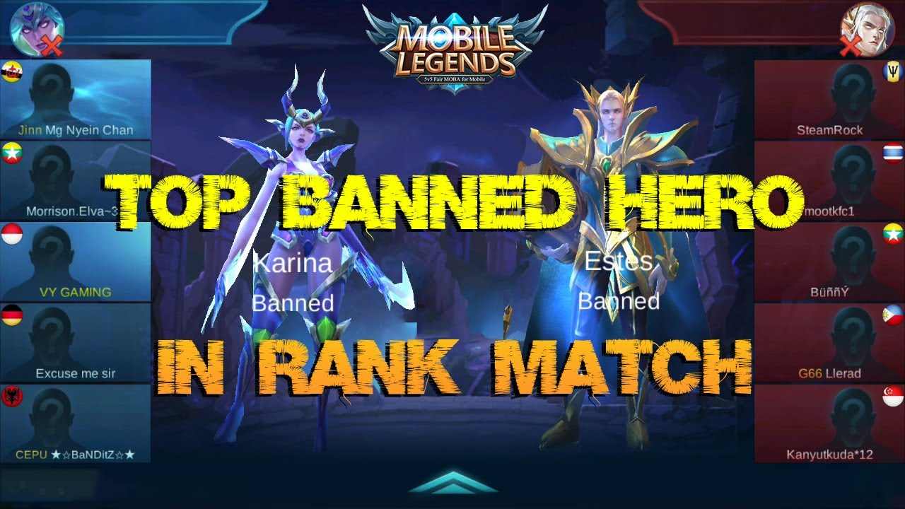 Mobile Legends - New Feature Draft Mode: No More Same Hero in Rank Match  [Patch 1.1.90]
