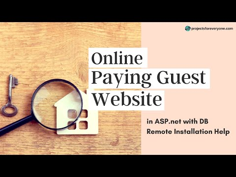 Online Paying Guest (PG) Website in ASP.Net with SQL Server