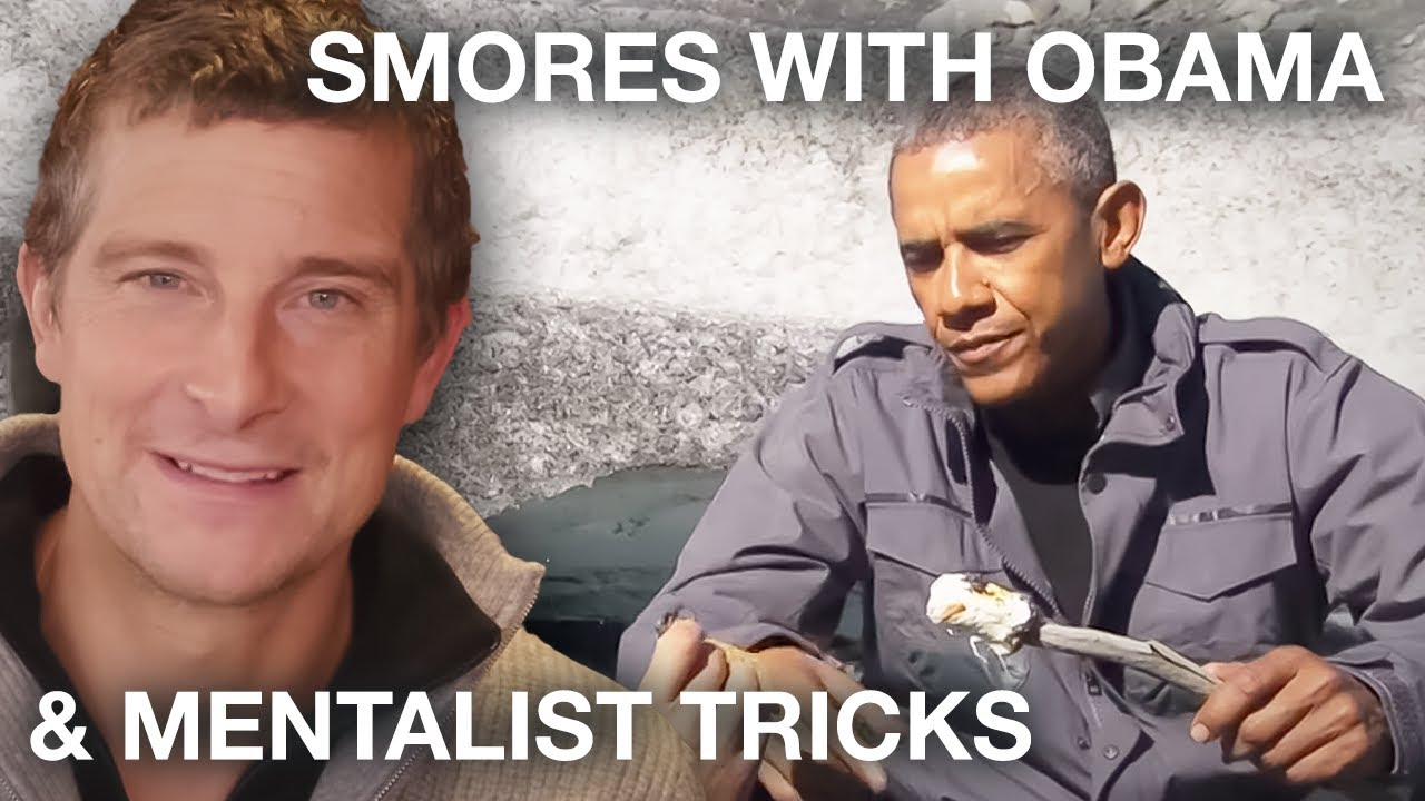 Bear Grylls Eats Smores with President Obama & Meets Mentalist Lior - Best of Bear