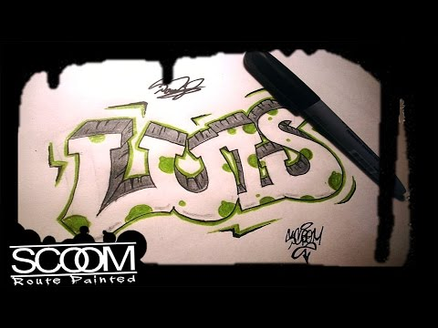 Graffiti Luis How To Draw Graffiti Names By Scoom Youtube
