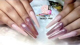 Uñas acrílicas diseños para uñas / nailart / #naildesign #uñasdeacrilico
