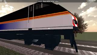 Roblox Rails unlimited: 2 Lagging trains pass near Pinewood.