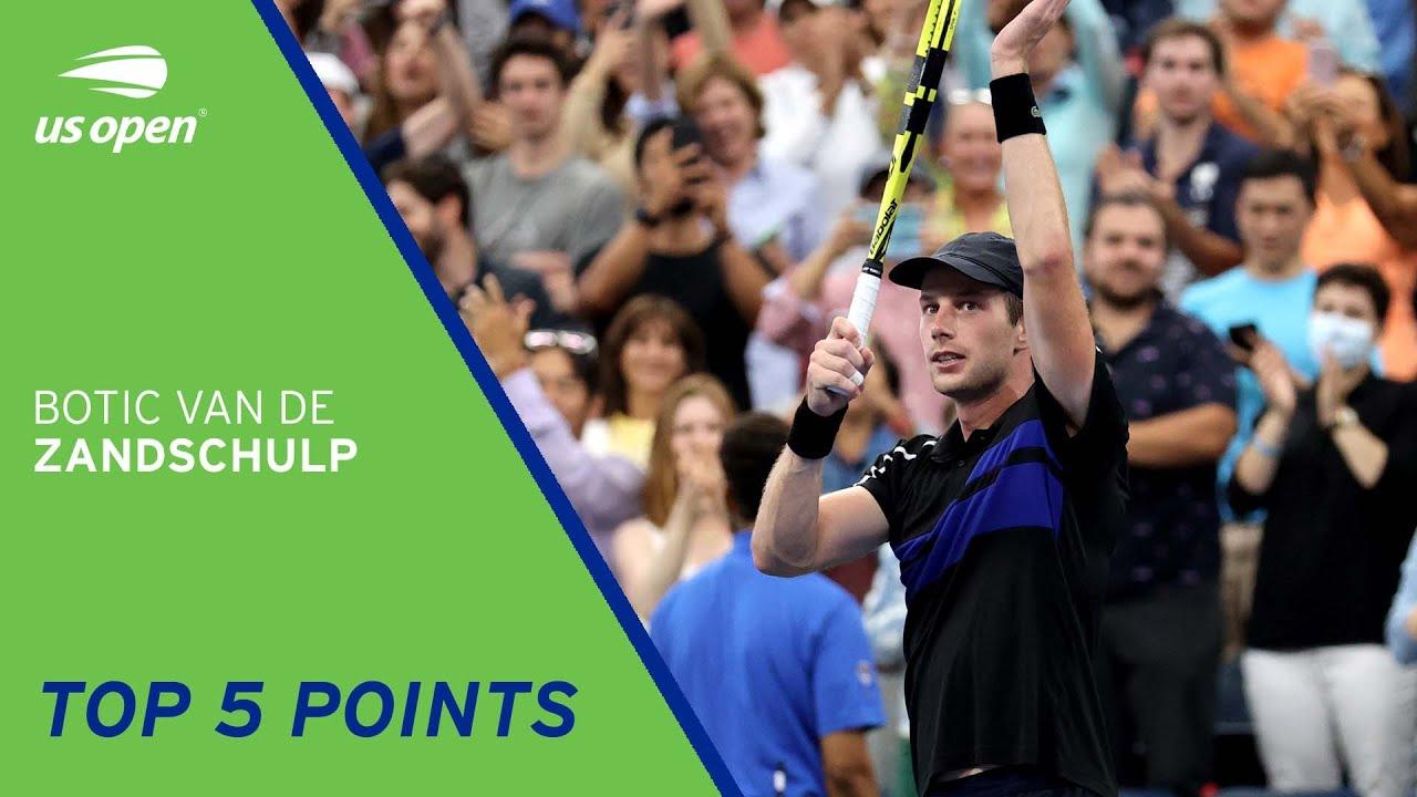 Botic van de Zandschulp | Top 5 Points | 2021 US Open