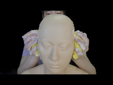 ASMR Gel, Lotion & Sponge lather Ear massage - No talking / Rubbing / Stroking