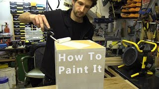 How To Paint An Exhibition Plinth (for beginners)