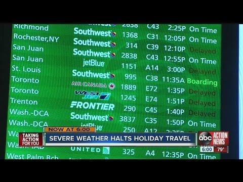 Winter weather airport delays