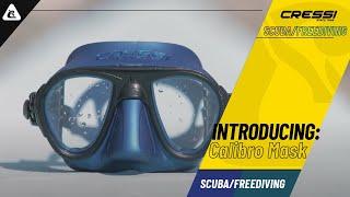 Cressi Calibro Professional Scuba Diving Freediving Mask with Anti Fog Black,