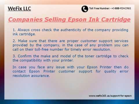 Technical Support Epson Printer