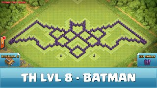 ★ Clash of Clans Troll Base ★ TH8 - Batman - Farming OLD VERSION