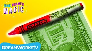 Crayon into Cash Trick | JUNK DRAWER MAGIC