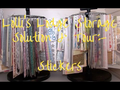 Lolli's Lodge Storage Solutions & Craft Room Tour - Stickers