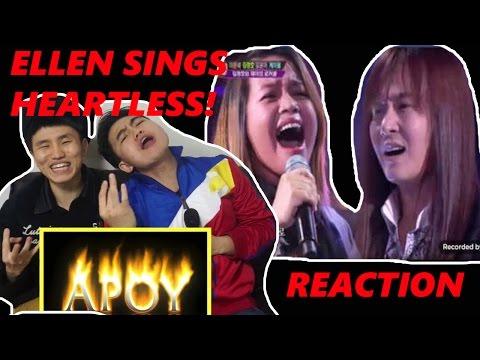 [Reaction #66] Koreans react to ELLEN singing HEARTLESS.