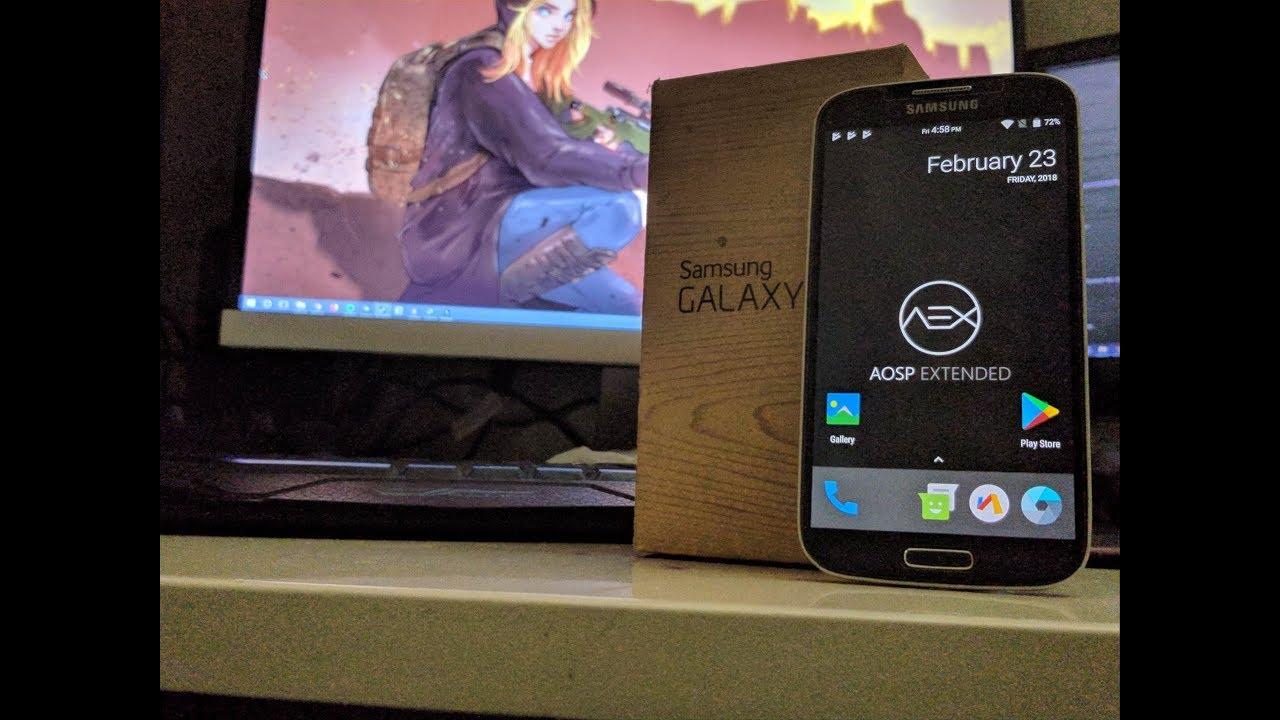 Galaxy S4 I9505 AOSP EXTENDED CUSTOM NOUGAT ROM 7 1 2 | Best & Fastest  Custom Rom ( 2018 build )