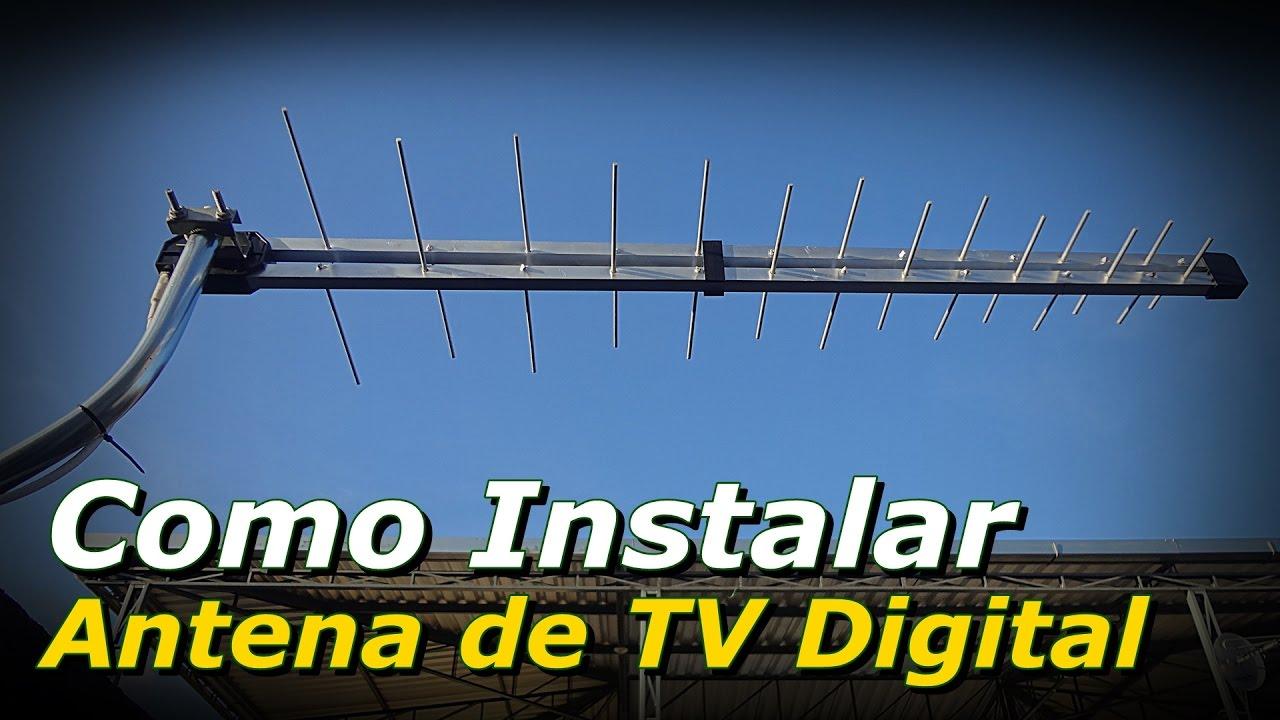 Antena de tv digital como instalar antena de tv digital for Antenas de tv interiores
