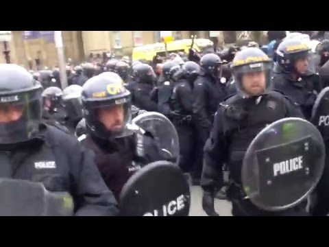 Nazi's get escorted by riot police out of Liverpool